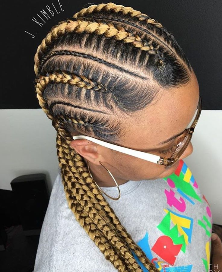 Clean feed in braids by @_j.kimble - Black Hair Information Community