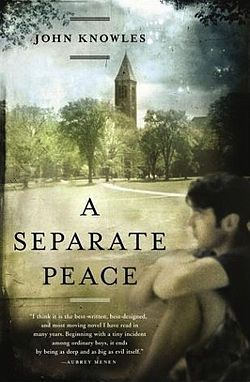 A Separate Peace by John Knowles. Set at a boys' boarding school