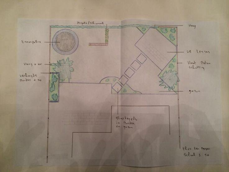Combinatie kindvriendelijke en groene tuin