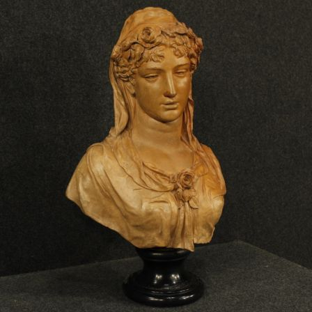 2400€ Antique terracotta sculpture bust of a woman signed and dated. Visit our website www.parino.it #antiques #antiquariato #art #antiquities #antiquario #sculpture #statue #decorative #interiordesign #homedecoration #antiqueshop #antiquestore #terracotta #woman #bust #signed #dated
