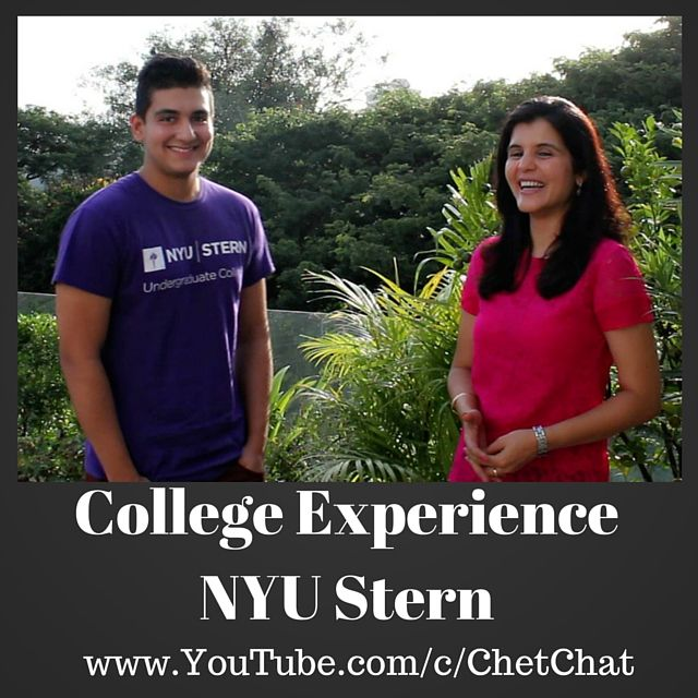 Videochat with Sophomore at NYU Stern School of Business who talks of why he chose NYU Stern, the course structure and specializations available, his sheltered childhood, playing basketball, college dorm room, getting along with roommates fun facts about New York University and more.
