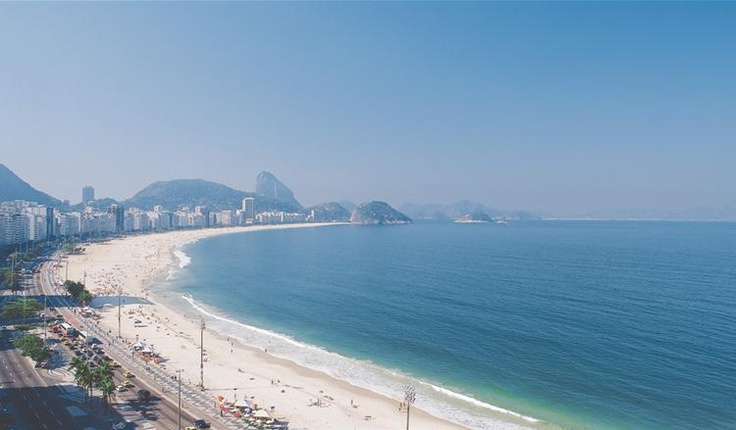View from the Windsor Excelsior Hotel in Rio de Janeiro, Brazil.  A great place to stay right on the strip on Copacabana Beach!