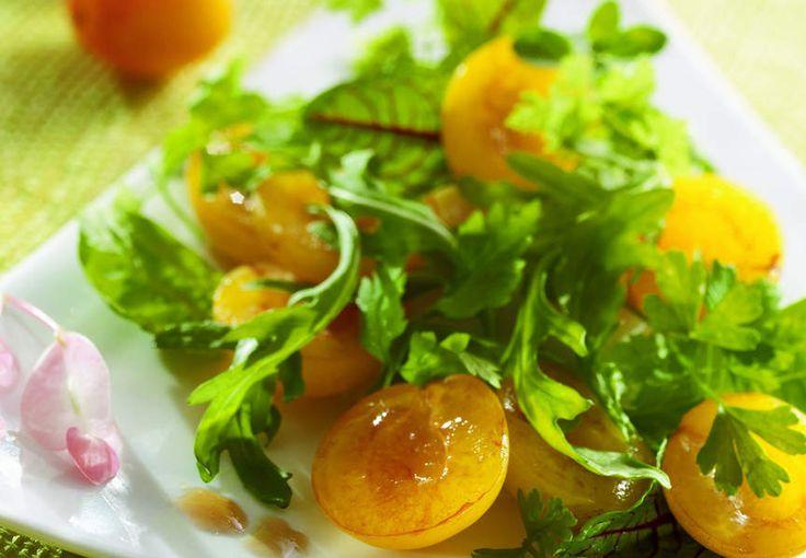 Salades de jeunes pousses aux Mirabelles de Lorraine