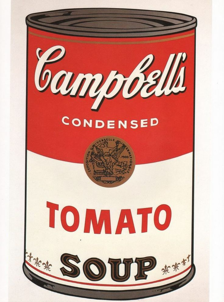 andy warhol book plate print campbell 39 s tomato soup can. Black Bedroom Furniture Sets. Home Design Ideas