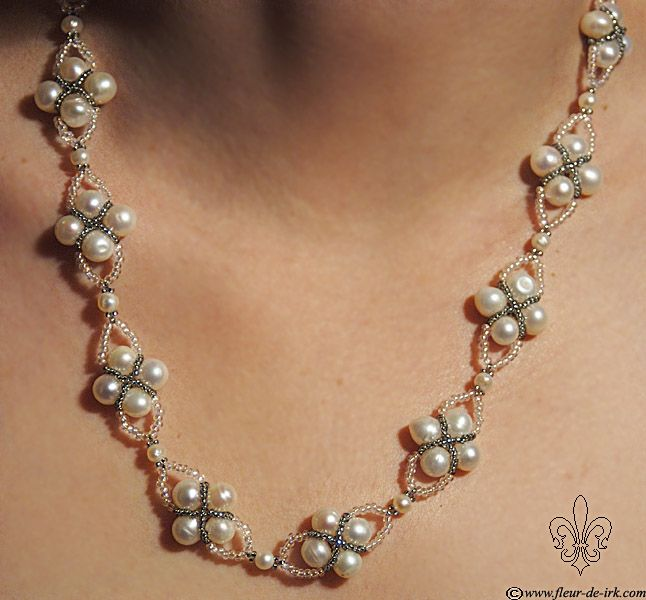 Pearl criss-cross N339 by Fleur-de-Irk.deviantart.com on @deviantART