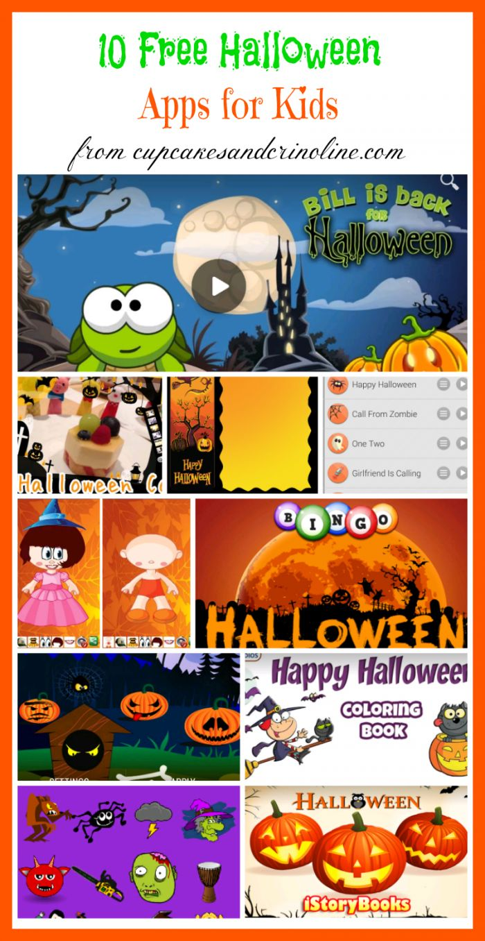 10 Free Halloween Apps for Kids from cupcakesandcrinoline.com