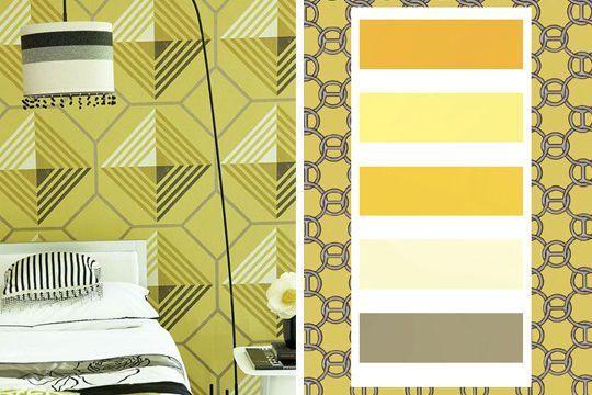 Du graphique et des couleurs d'été - 30 palettes de couleurs pour refaire votre déco - CôtéMaison.fr