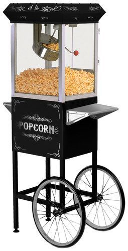 Elite Deluxe - 8-Oz. Old-Fashioned Popcorn Trolley - Black