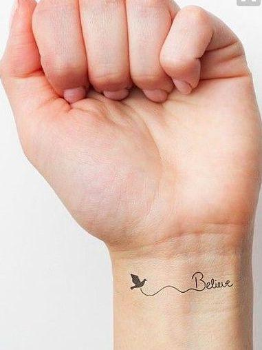 The wrist tattoo