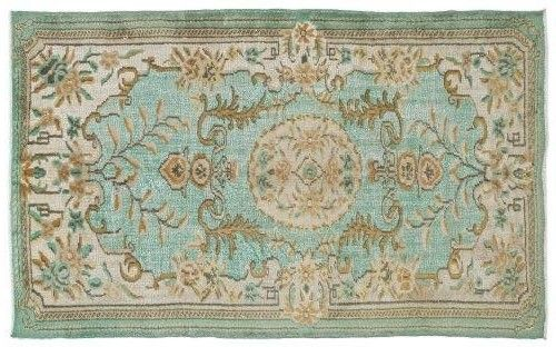 Very nice vintage rug, with soft blue.