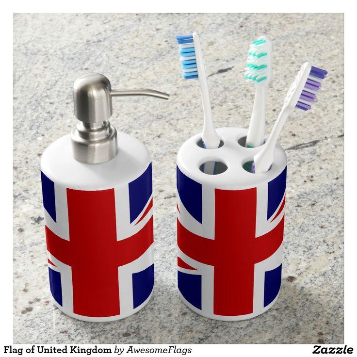 Flag of United Kingdom Toothbrush Holders