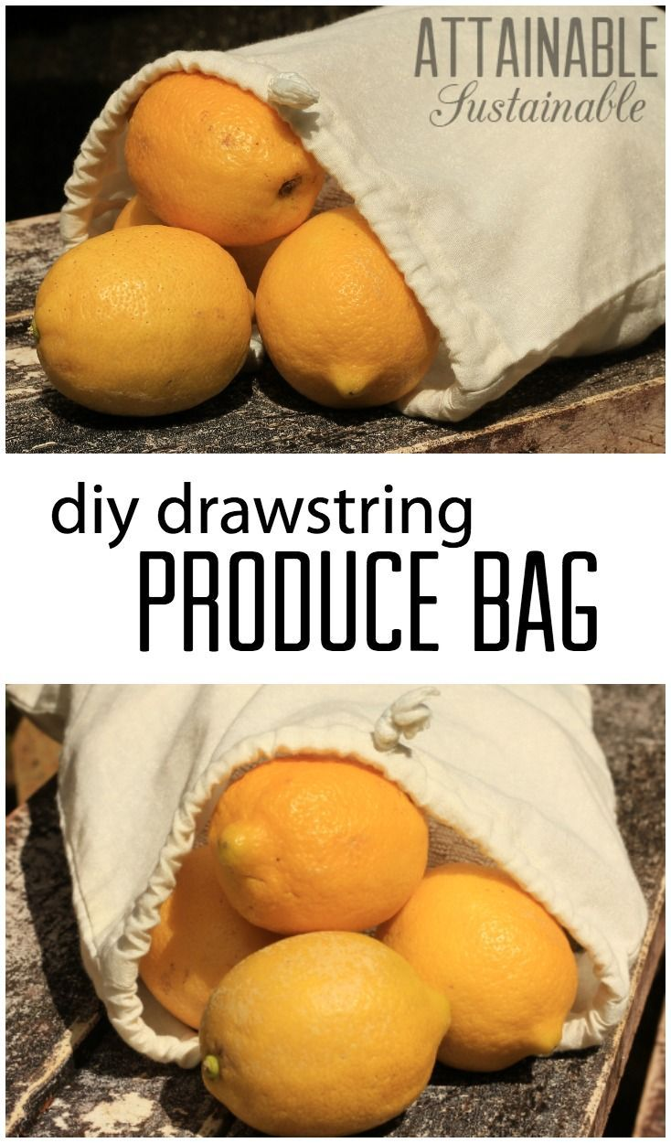 You won't need those flimsy, single-use plastic produce bags from the supermarket when you make some of your own reusable bags. This is an easy sewing project for beginners, and a useful one, too, as you aim for a zero-waste kitchen.