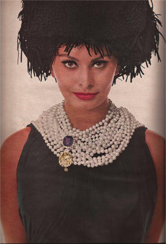 Sophia Loren - 1961 - Van Cleef & Arpels - Hat by Adolfo of Emme - Photo by Richard Avedon