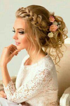 Brautfrisuren romantische hochsteckfrisur  27 besten Penteados ^.^ Bilder auf Pinterest | Makeup, Make up und ...