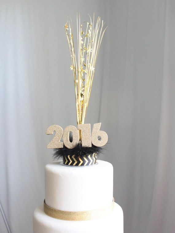 New Year's 2016 Cake Topper: