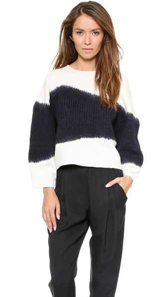 3.1 Phillip Lim Needle Punch Angora Pullover