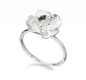 Alexis Dove 'Wild Rose' sterling silver Tiny ring