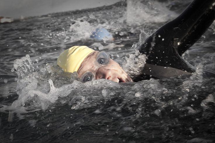 Swim leg of a triathlon