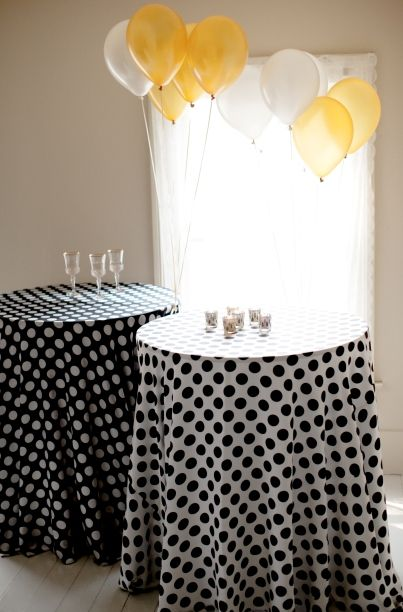 Black With White Polka Dots Or White With Black Polka Dots. Both Are  Trending Both · Linen TableclothTableclothsHalloween ...