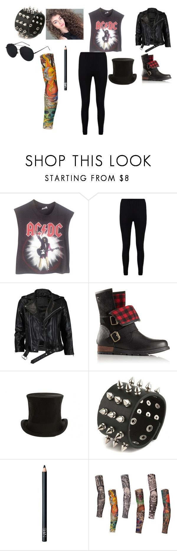 """Slash Costume"" by princessrobinel ❤ liked on Polyvore featuring Vintage, Boohoo, VIPARO, SOREL, Jayson Home and NARS Cosmetics"