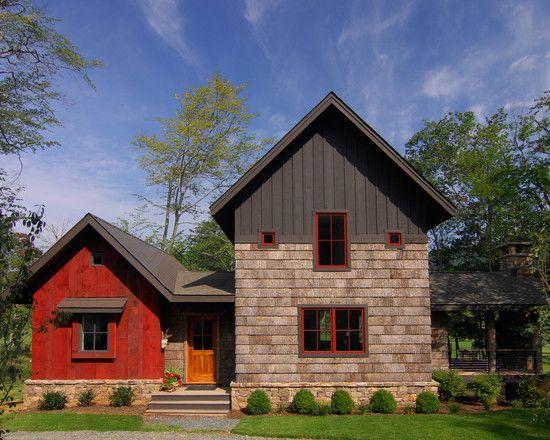 Bark House Shingle Siding and Reclaimed Barnwood Siding - eclectic - exterior - other metros - Christopher Kellie Design Inc.
