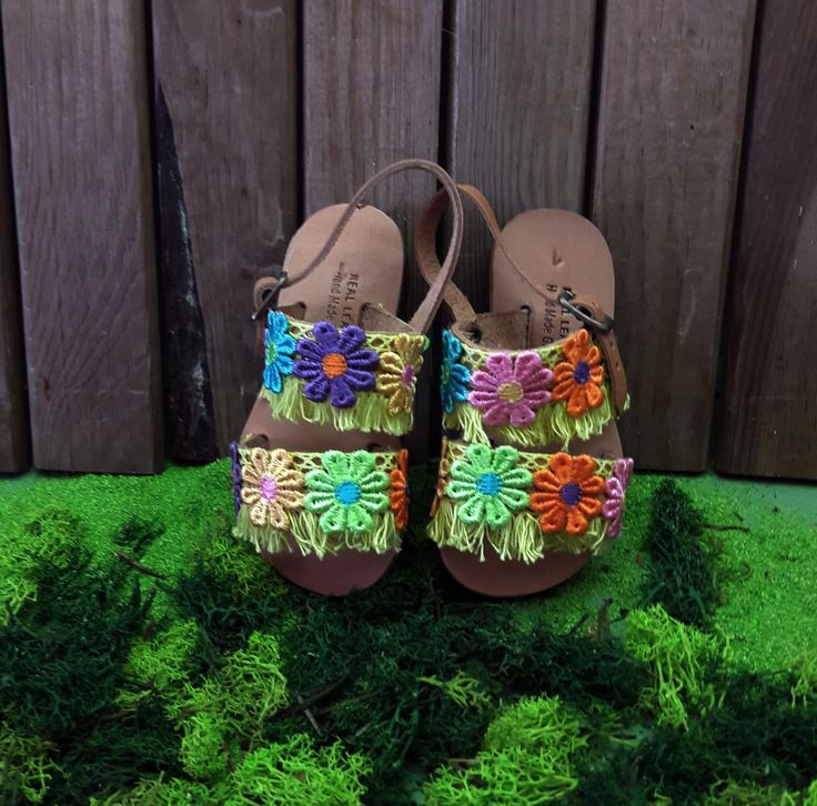"""Kid's Sandals, Strappy Leather Handmade Sandals for KIds, Ethnic Sandals, Boho Sandals ,Kid's Shoes """"Electra"""""""