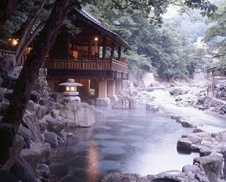 japanese mountain spa - Bing 이미지