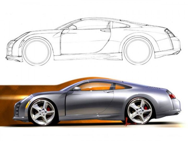 Full-size side view rendering in Photoshop