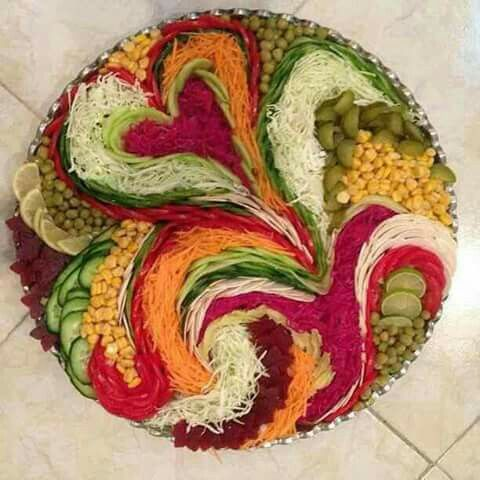 Salad 》》art of presentation 6 ♡ mizna♡                                                                                                                                                                                 Mais