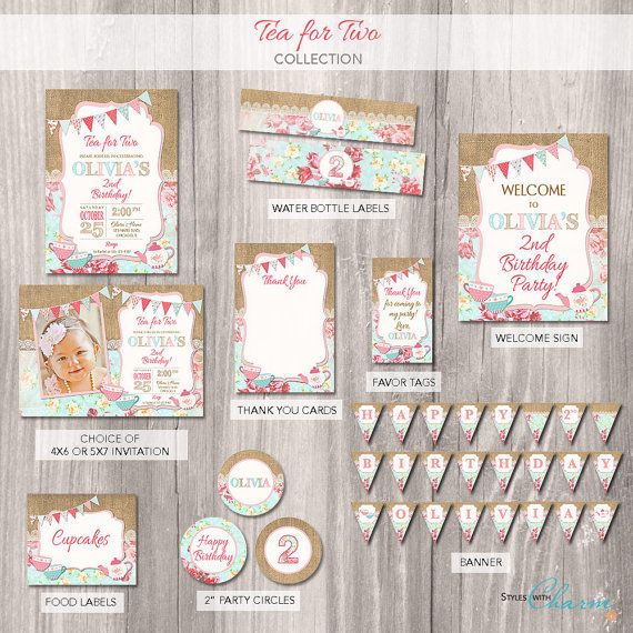 Tea For Two Party Package Birthday Invitation 2