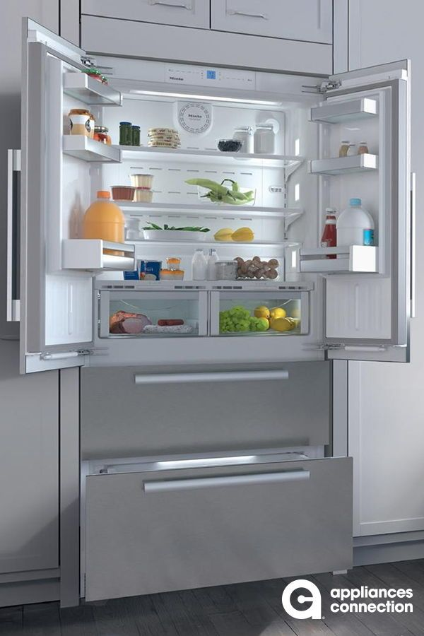 The Energy Star Rated Bottom Mount French Door Refrigerator From Miele Will Be The Best Addition To Your Plac Home Appliances Kitchen Appliances Top Appliances