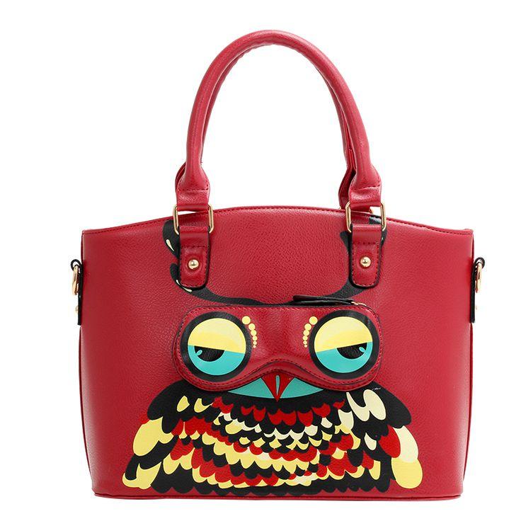 Купить Симпатичные сова женщины сумки роскошные кожаные сумки дизайнеры бренда сумки на ремне сумка…
