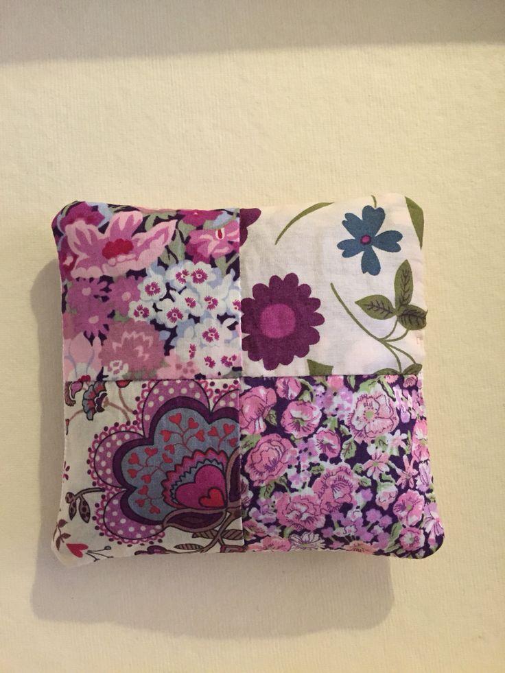 Reverse of Monogram lavender bag, Liberty print patchwork