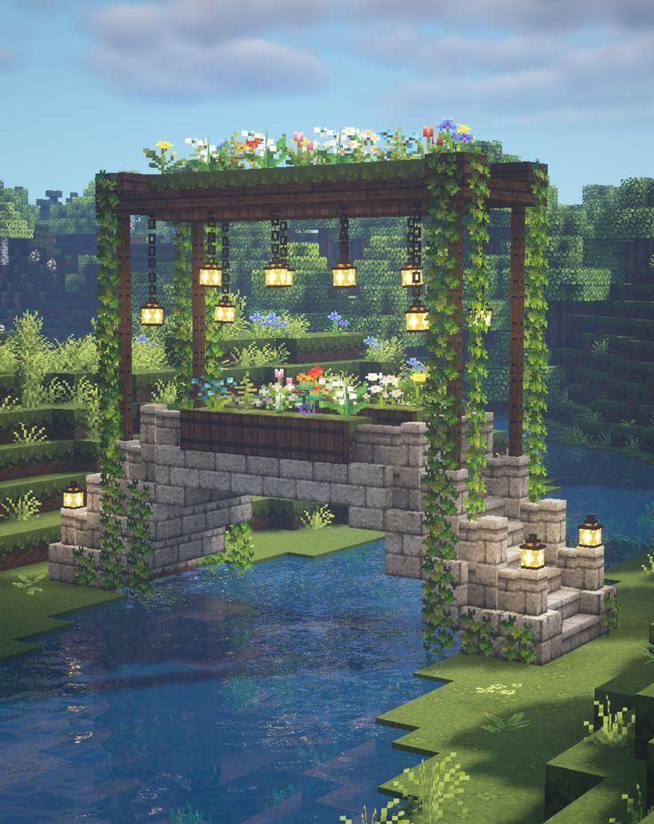 Minecraft Fairy Garden Bridge 🍄🌿 Magical Fairytale ...