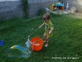 La receta más fácil de burbujas gigantes