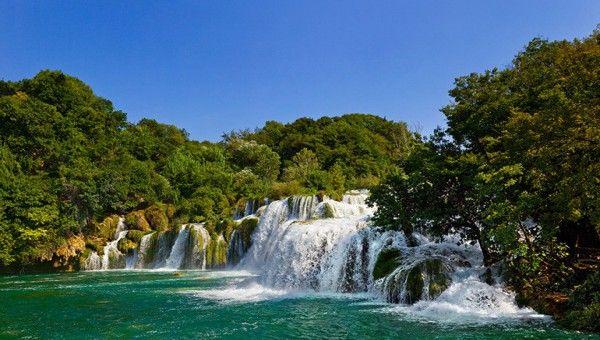 Vízeséséek Horvátországban a Vir szigeten
