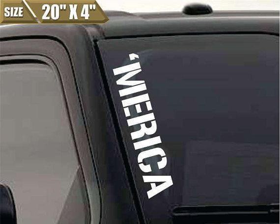 Merica windshield sticker banner vinyl by skyhawkstickerdepot