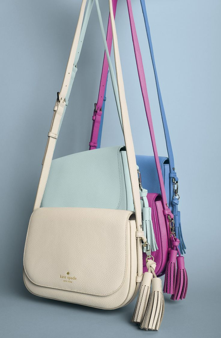 In love with this compact crossbody by Kate Spade that comes in a variety of essential spring colors.