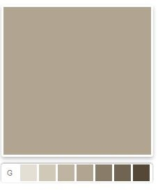 Sherwin Williams Taupe for foyer, stair and upper hall walls (above wainscoting) and living room and dining room