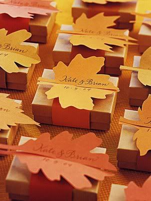 Pretty fall wedding favors