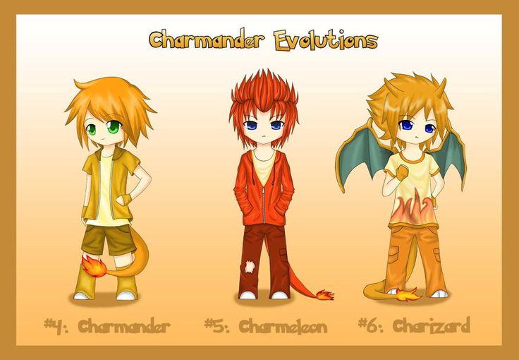 Pokemon Charmander Evolution | Gijinka+ Charmander Evolution by ~ShadowSeason on deviantART