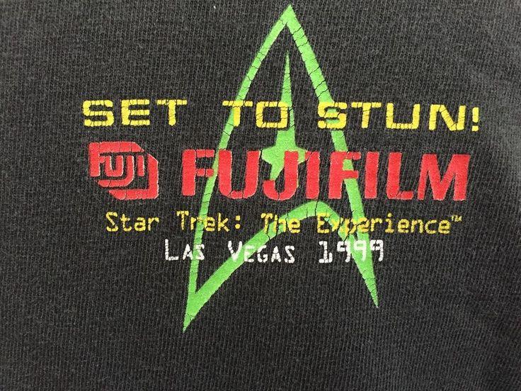 Set To Stun - FujiFilm. Star Trek: The Experience Las Vegas 1999 T-Shirt. Still has plenty of life left in the shirt. | eBay!