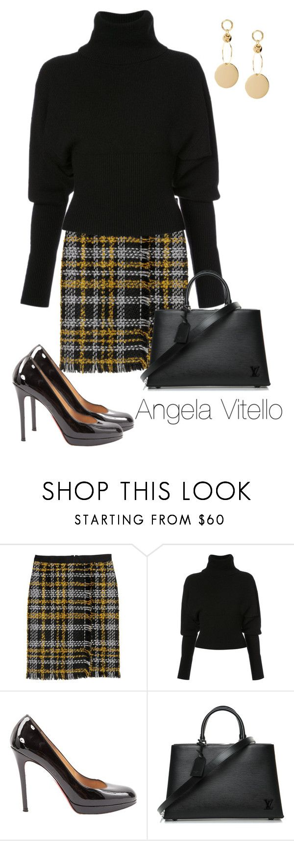 """""""Untitled #1050"""" by angela-vitello on Polyvore featuring Creatures of the Wind, Christian Louboutin and Louis Vuitton"""