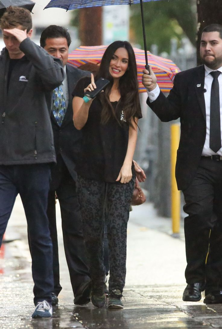 Megan Fox was pictured as she arriving at the 'Jimmy Kimmel Live!' http://celebs-life.com/megan-fox-pictured-arriving-jimmy-kimmel-live/  #meganfox