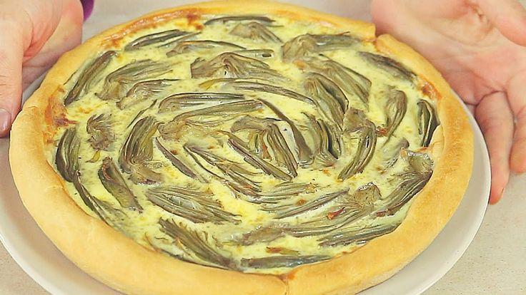 CROSTATA DI CARCIOFI RICETTA FACILE - Artichoke Pie Easy Recipe