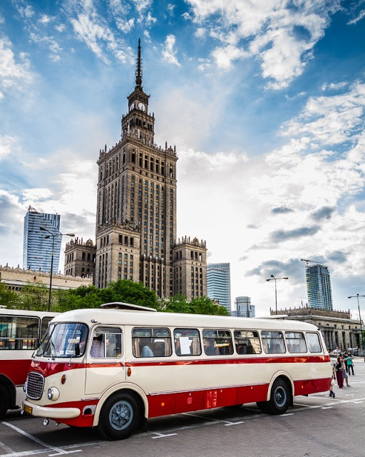 Old city bus Jelcz 043, Plac Defilad, Warsaw, Poland