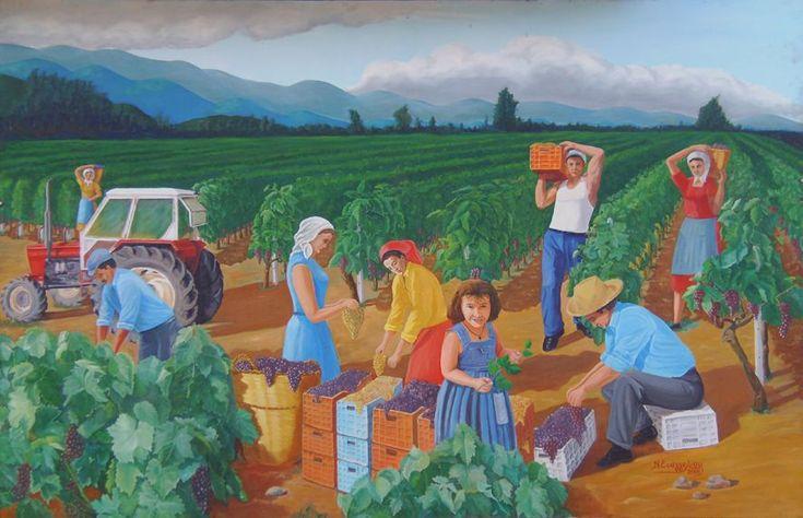 Θέρος-Τρύγος-Πόλεμος «Θέρος-Τρύγος-Πόλεμος», μια φράση που περιλαμβάνει την μεγάλη προσπάθεια των ανθρώπων που ασχολούνται με το κρασί και θυμίζει συνθήκες μάχης αφού απαιτείται έντονη προσπάθεια και αυξημένη δραστηριότητα.