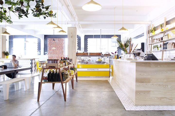 Best interior design food stores images on pinterest