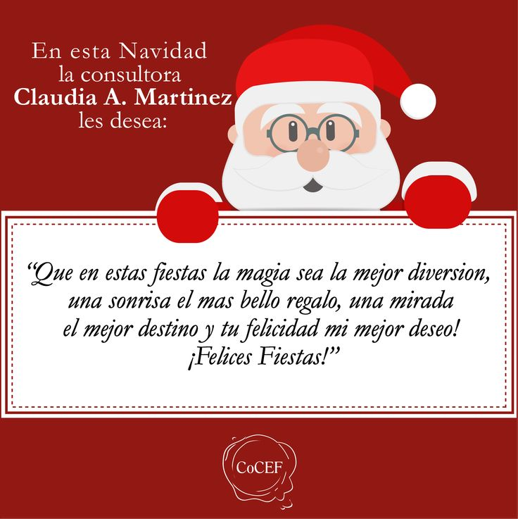 Frase de Navidad de nuestra consultora Claudia Alejandra Martínez