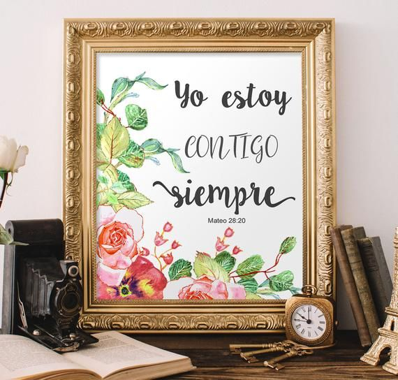 Versiculo Biblico En Espanol Mateo 28 20 Yo Estoy Contigo